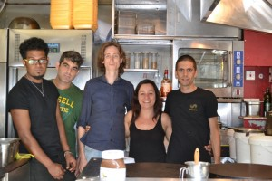 Claudia and staff of Senzala creperie who plan to join other traders at Stratford Town Centre Food Festival