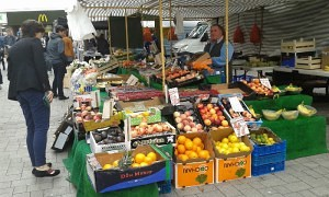 Keith Eaton with some of his quality fresh produce