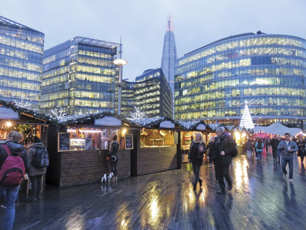 The More London offices in the background provide a healthy daytime footfall for traders